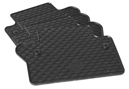 4-part rubber floor mat set