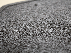 Rubber coating on the back of the vehicle carpet