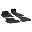 Rubber floor mats with oval clips