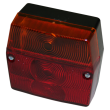 Trailer lamp with 3-chambers and license plate lamp