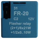 Indicator relay french plug-in arragement