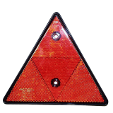 Triangle reflector red