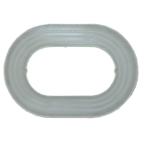 Washer for oval eyelets
