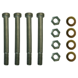 4 screws with shims and nuts for replacement plate and 4-hole ball heads