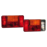 Trailer lamp set with 5-chambers and license plate lamp