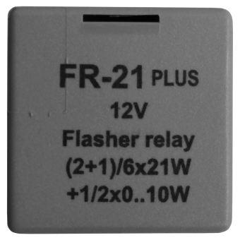 Indicator relay european plug-in arrangement