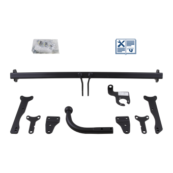 GDW Towbar rigid incl. electrical set 7pins specific