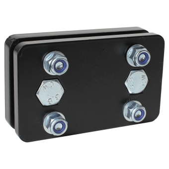 Adapter plate from 2-hole to 4-hole