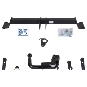 GDW Towbar detachable incl. electrical set 7pins universal