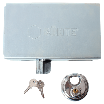"Anti-theft box lock Lockable with ""Diskus"" padlock"