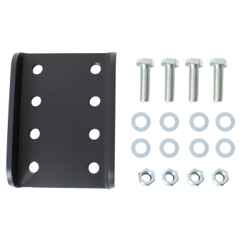 Adapter plate for height adjustment suitable for 2-hole flange balls