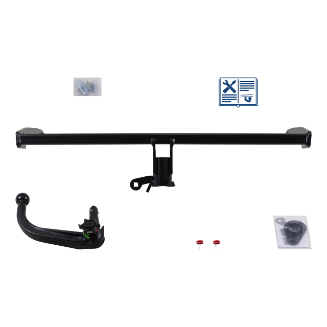Westfalia Towbar detachable incl. electrical set 7pins universal