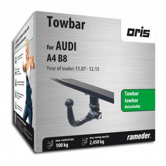 Oris Towbar detachable Towball inserted from below