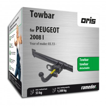 Oris Towbar detachable Towball inserted from the rear