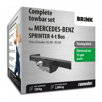 Brink Towing hitch incl. electrical set 13pins specific + adapter