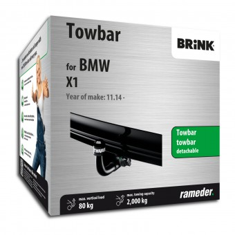 Brink Towbar detachable Towball inserted from below