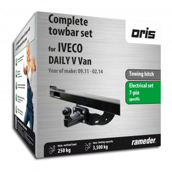 Oris Towing hitch incl. electrical set 7pins specific