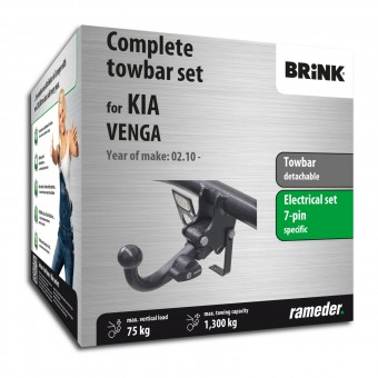 Brink Towbar detachable incl. electrical set 7pins specific
