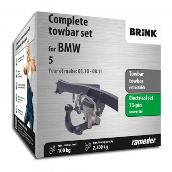 Brink Towbar retractable incl. electrical set 13pins universal + adapter