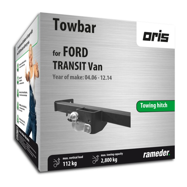Oris  Towing hitch with 2-hole flange ball