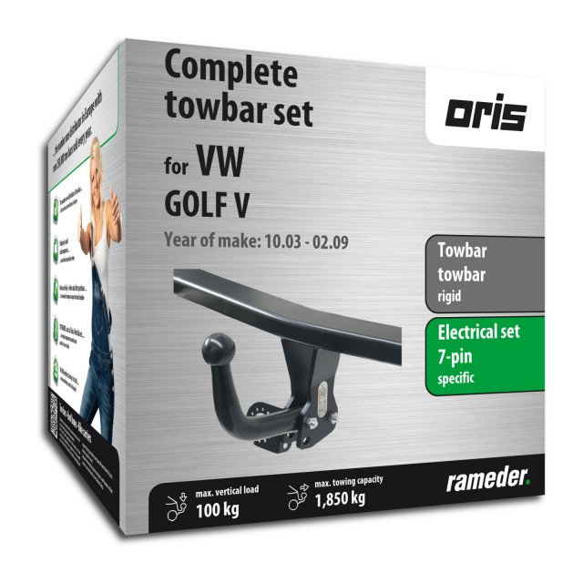 Oris Towbar rigid incl. electrical set 7pins specific