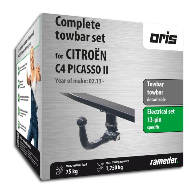 Oris Towbar detachable incl. electrical set 13pins specific + adapter