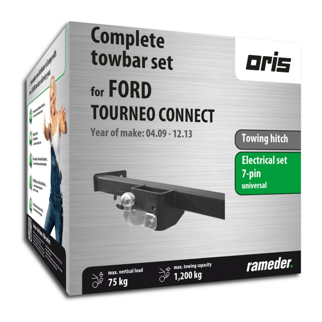 Oris Towing hitch incl. electrical set 7pins universal