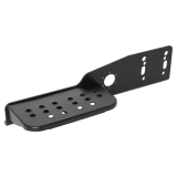 Universal step, left for towing brackets with