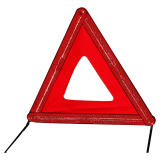 Warning triangle in a red plastic case