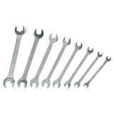 Open-end wrench set 8-part set, sizes: 6 - 22mm