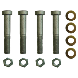 Screw set for replacement plate and 4-hole ball heads