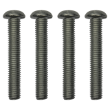 Screw set for roof carrier