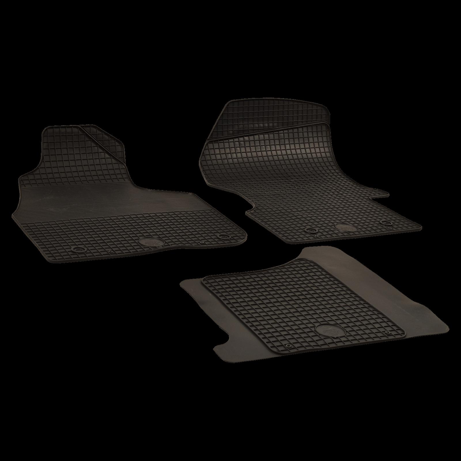 Rubber Floor Mats Black For Mercedes Benz Sprinter 3 T Bus Year Of Make 06 06