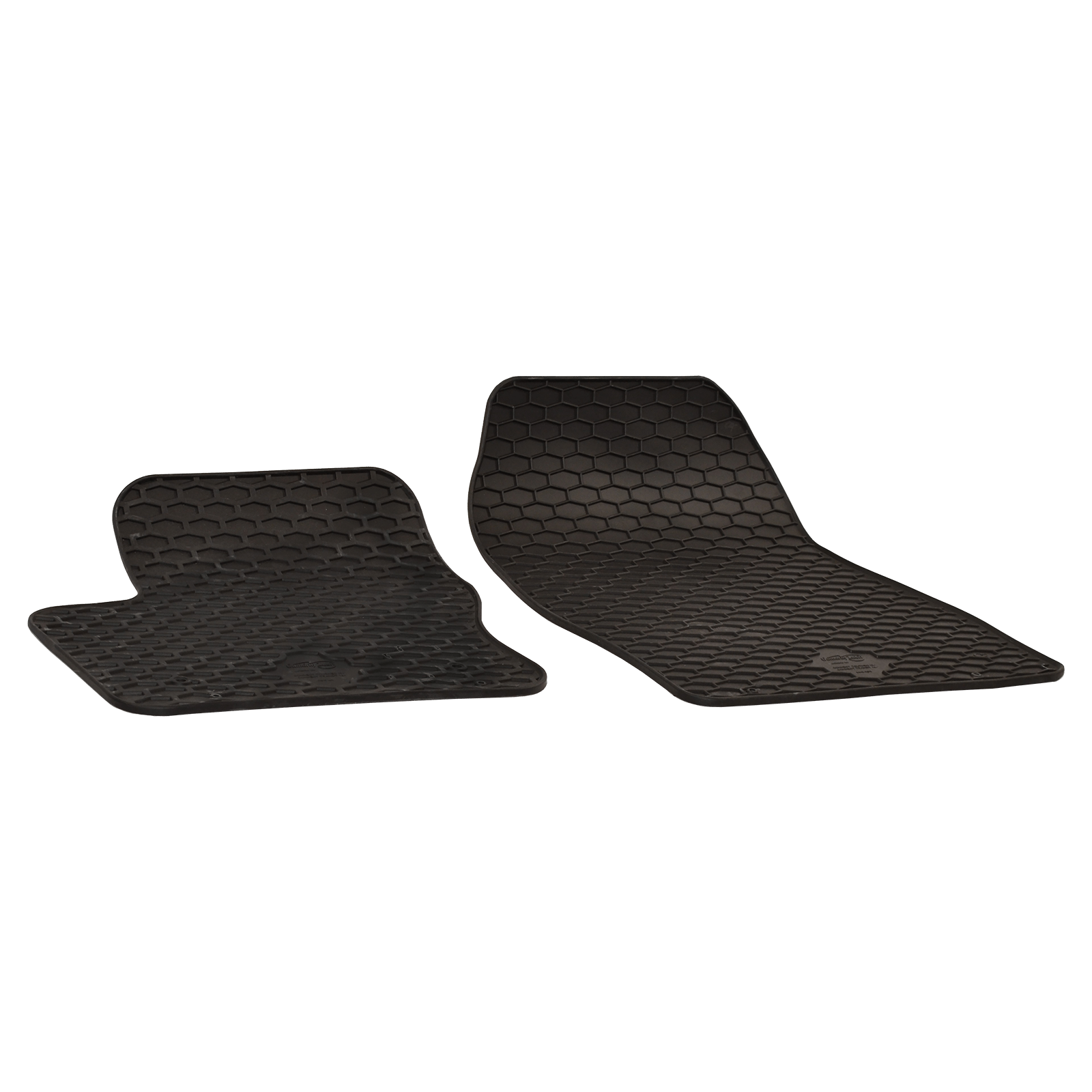 Rubber Floor Mats Black For FORD TOURNEO CONNECT GRAND TOURNEO - Rubber connecting floor mats